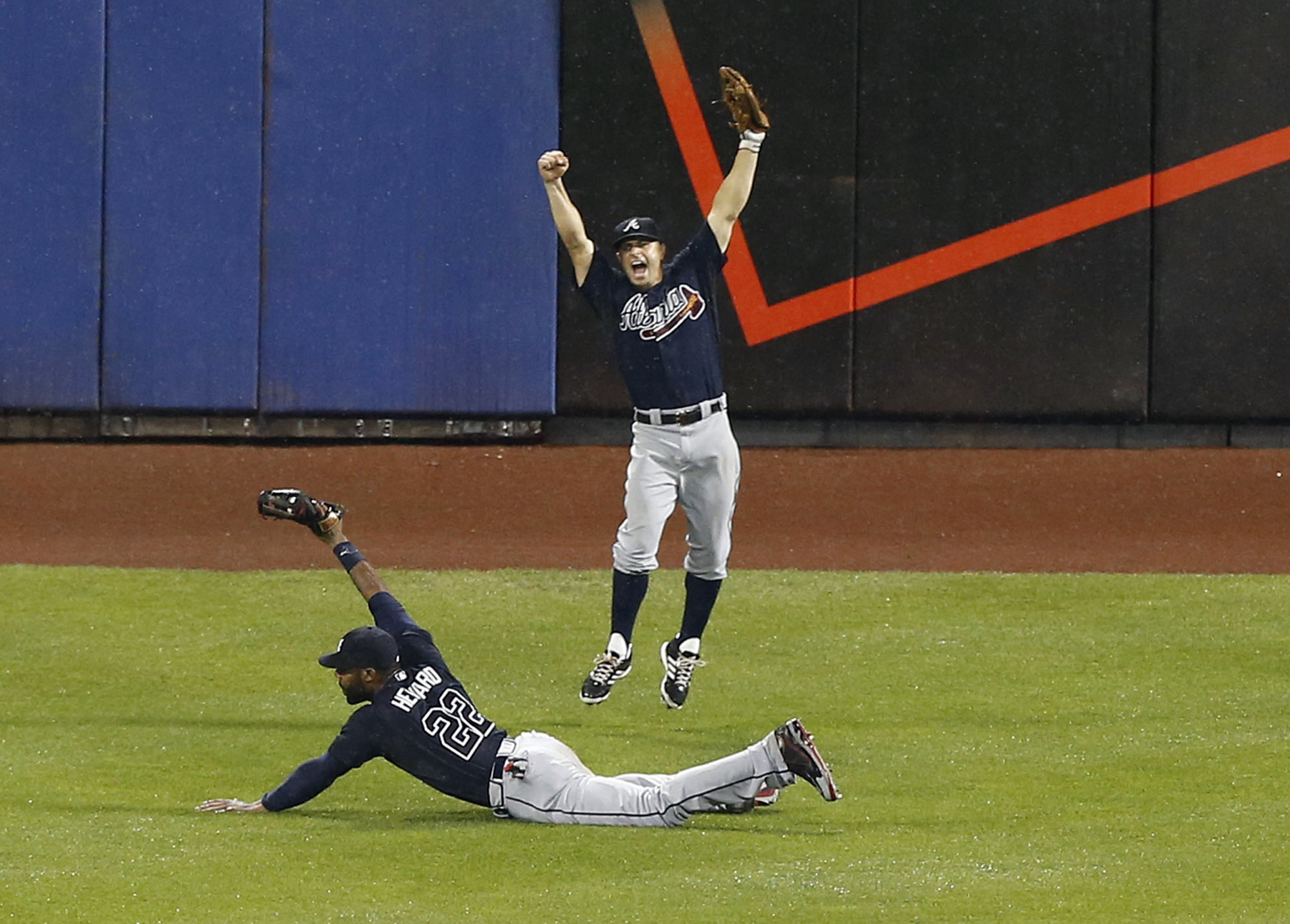 Jason Heyward's game-ending catch vs. the Mets was used to demonstrate MLBAM's new tracking technology.