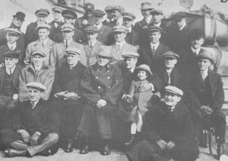 """Aboard the Lusitania, as shown in Ted Sullivan's """"History of World's Tour."""""""