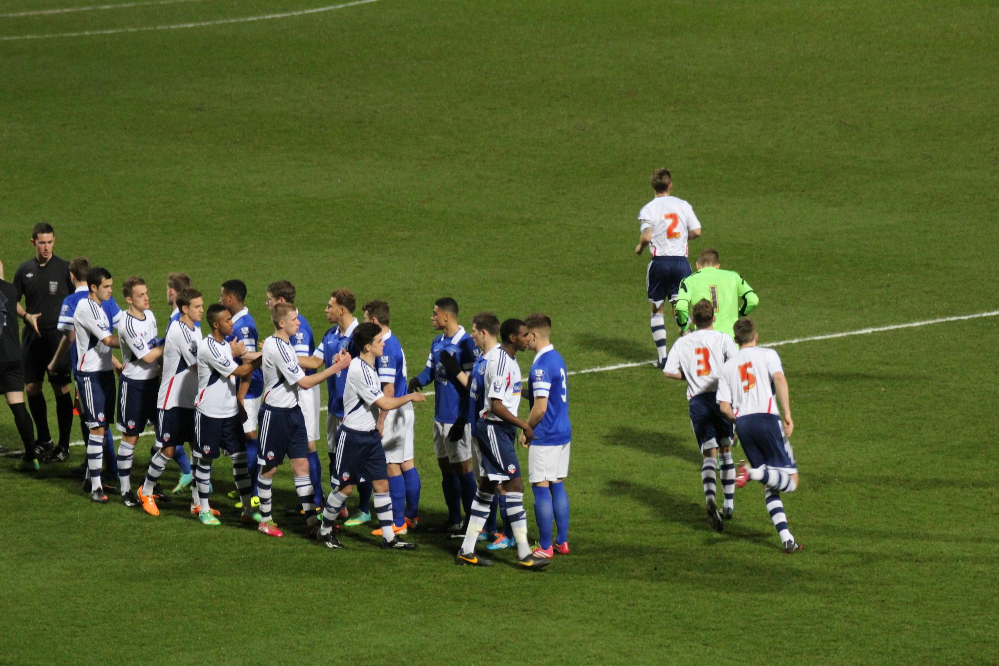 Bolton's u21s hosted Everton's u21s at the Reebok Stadium on Monday.