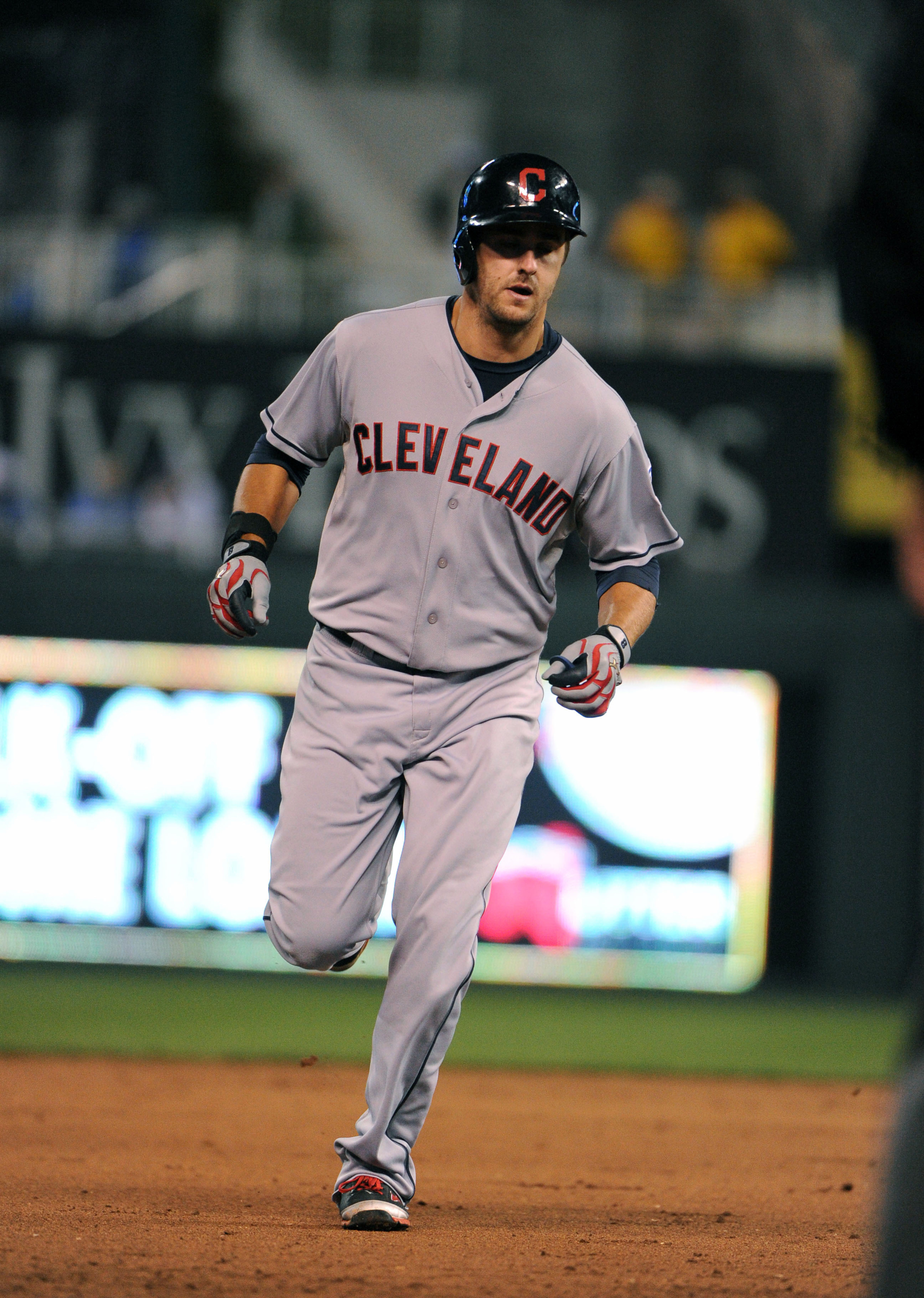Lonnie Chisenhall after one of his homers in his hot September