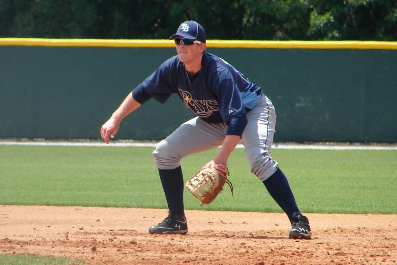 Cameron Seitzer in minor league spring training camp in 2012