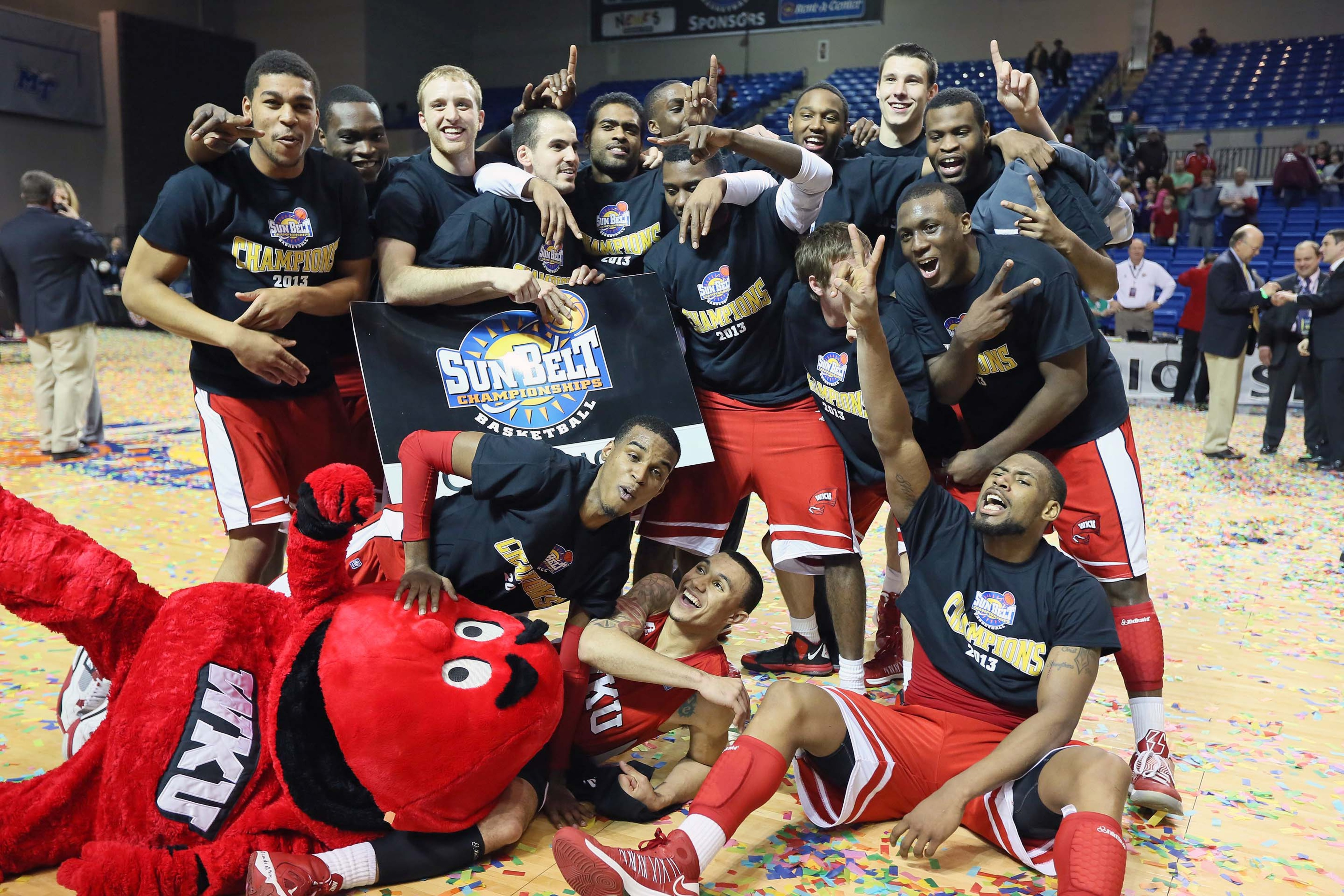 The Western Kentucky Hilltoppers are looking for their third straight Sun Belt Tourney title.