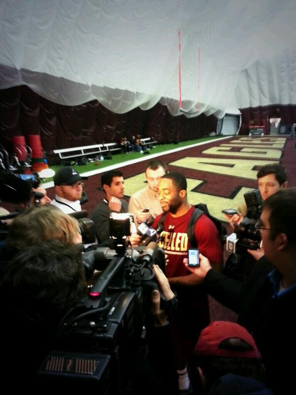 Andre Williams Speaks With Reporters