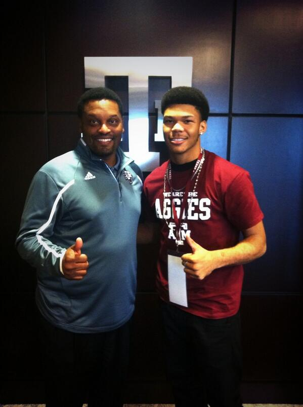 Larry Pryor with Texas A&M head coach Kevin Sumlin