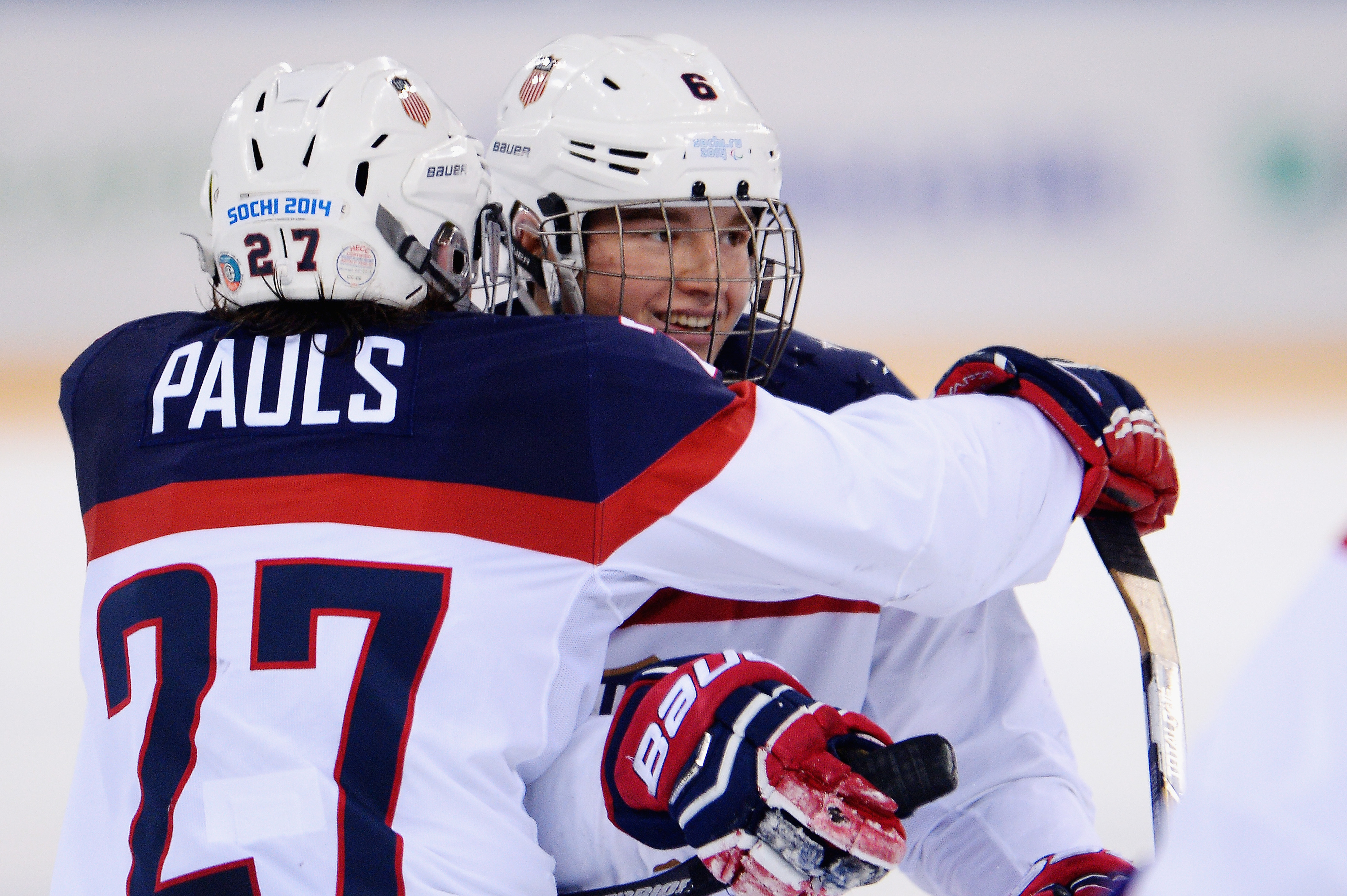 Declan Farmer and Josh Pauls, two-thirds of the youngest line on Team USA's roster, will compete for gold tomorrow at the Winter Paralympics in Sochi.