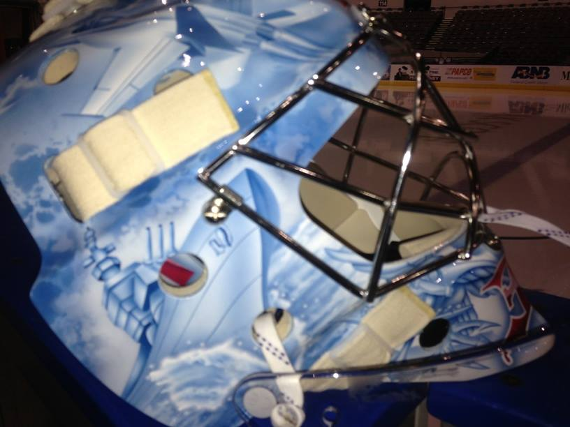 Brad Thiessen's Military-Themed Goalie Mask