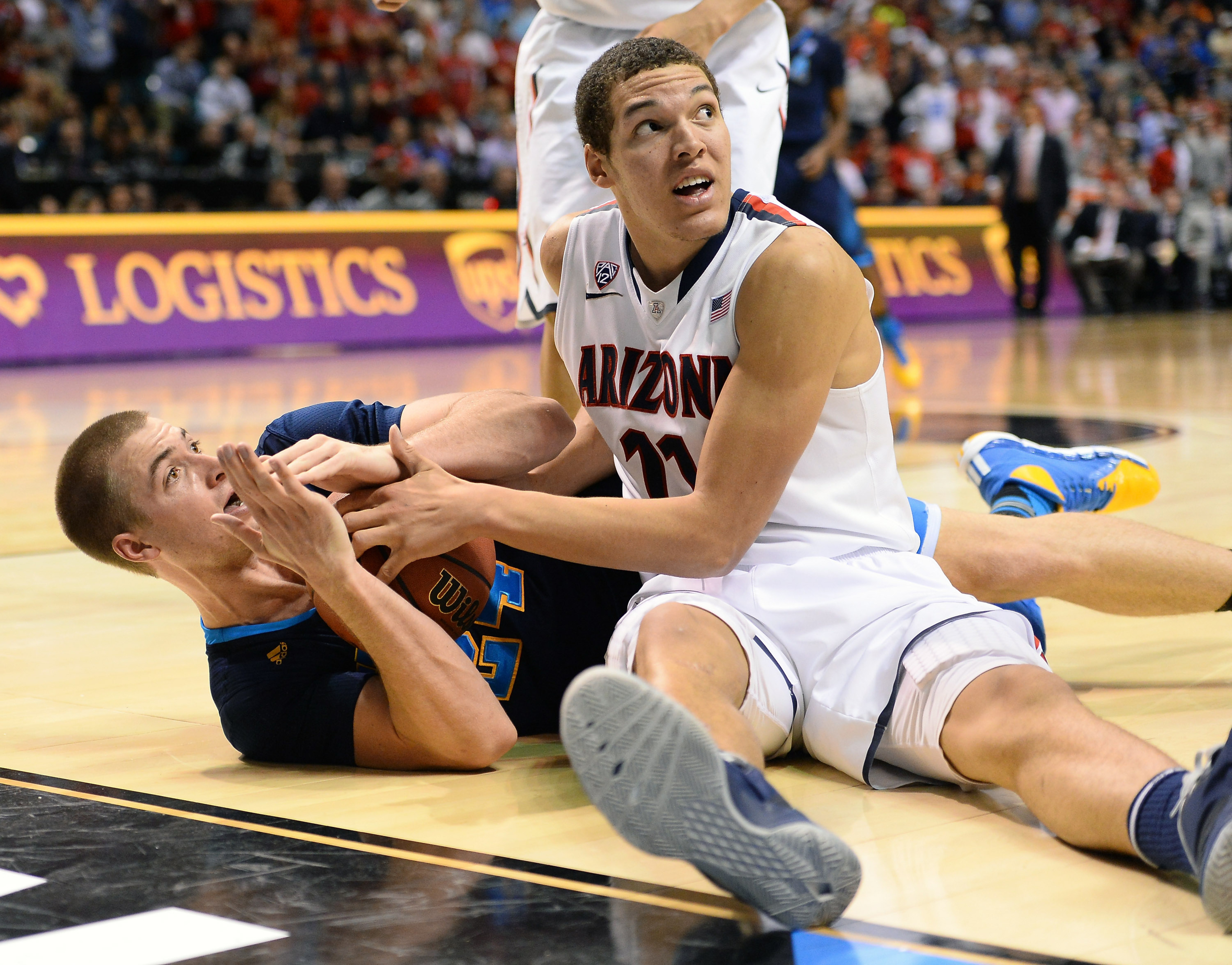Travis Wear dive for a loose ball and time out was a symbol of the game.
