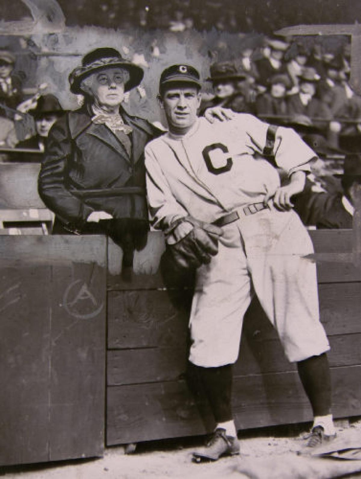Tris Speaker with his mother