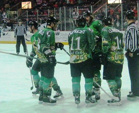 The Sundogs wore special jerseys to celebrate St. Patrick's Day.
