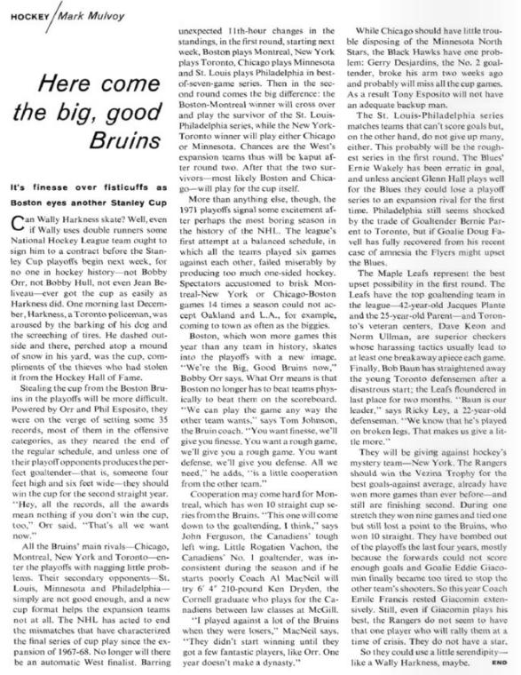 The Big, Good Bruins? If you say so, Bobby.