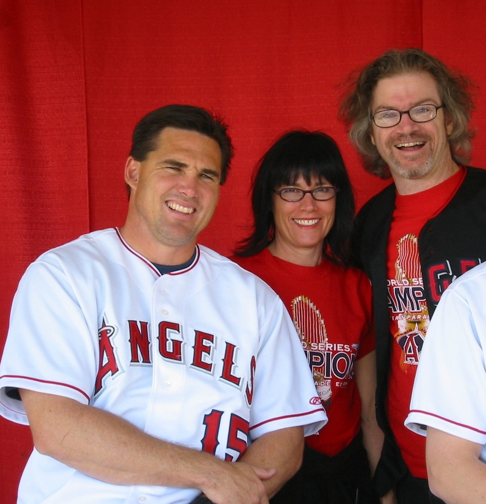 Tim Salmon with Mrs. Halofan and I, Angels 2005 FanFest