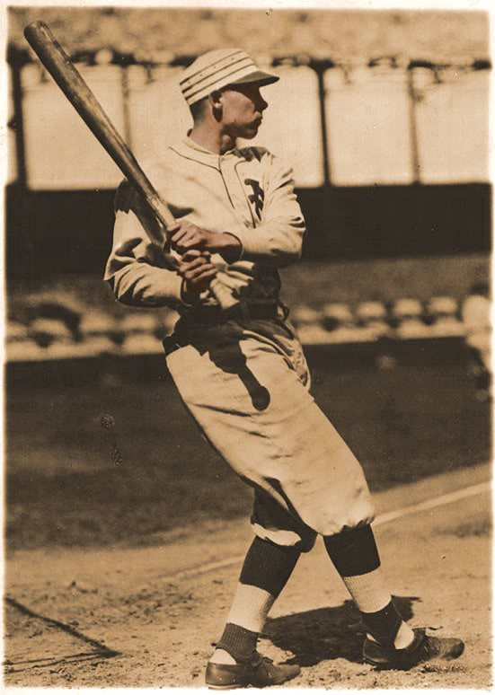 Edd Roush, date unknown. Thanks to Bill Burgess of Baseball-Fever.com for the rare photo.