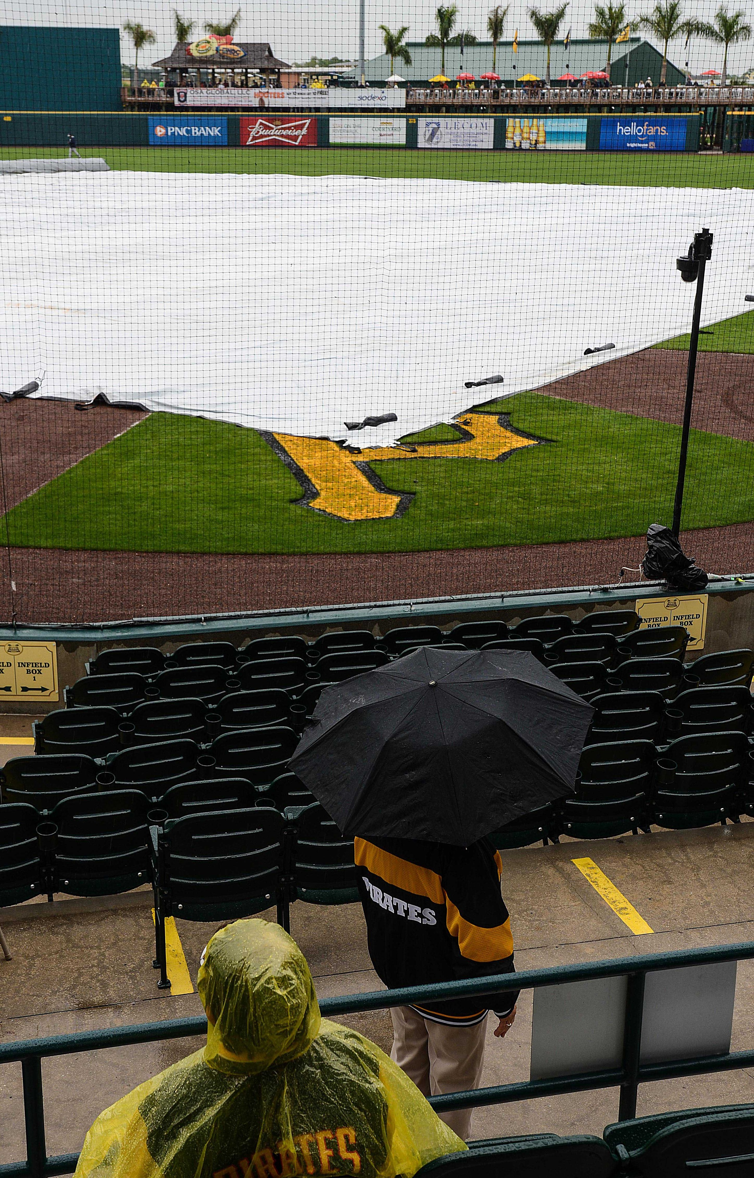 Rain delays sometimes bring out the creative sides of baseball teams