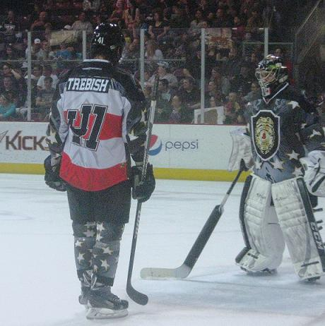 The Sundogs wore specialty jerseys to honor the military and law enforcement.