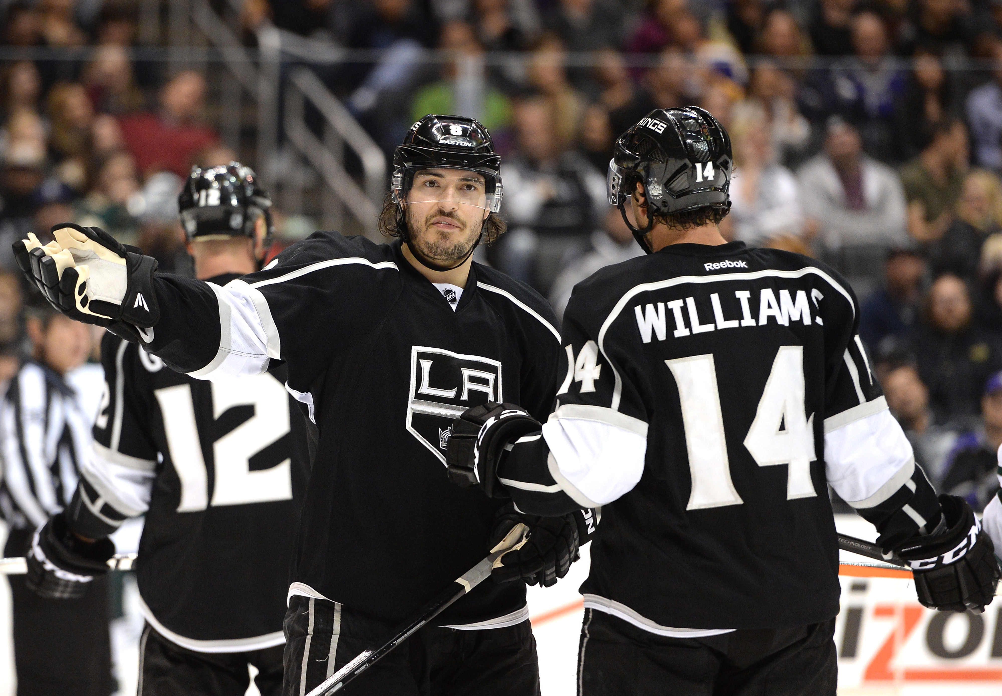 I dunno what kind of picture goes with a generic puck possession article, so here's Doughty making a funny face