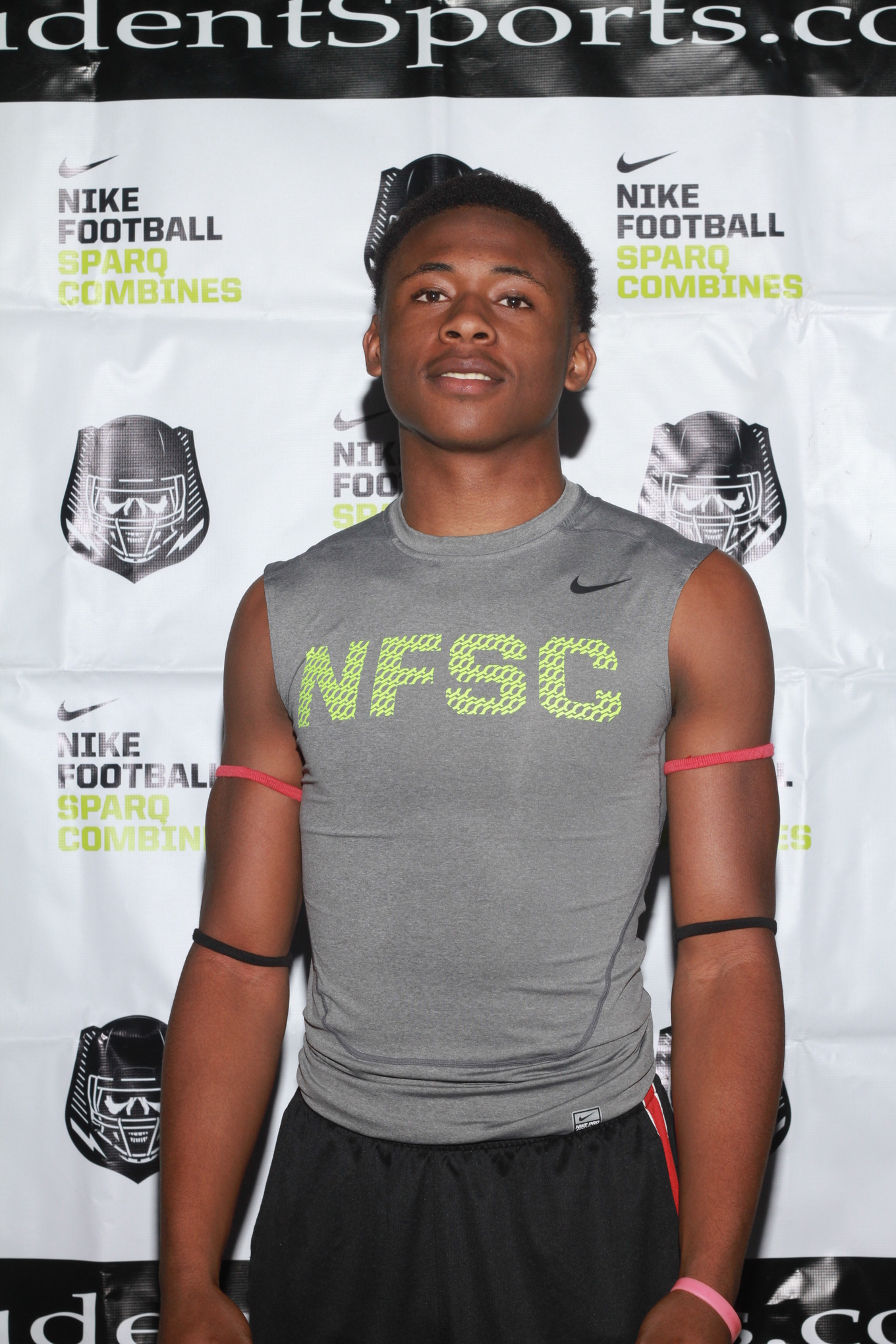 Carlos Strickland at a Nike SPARQ Combine