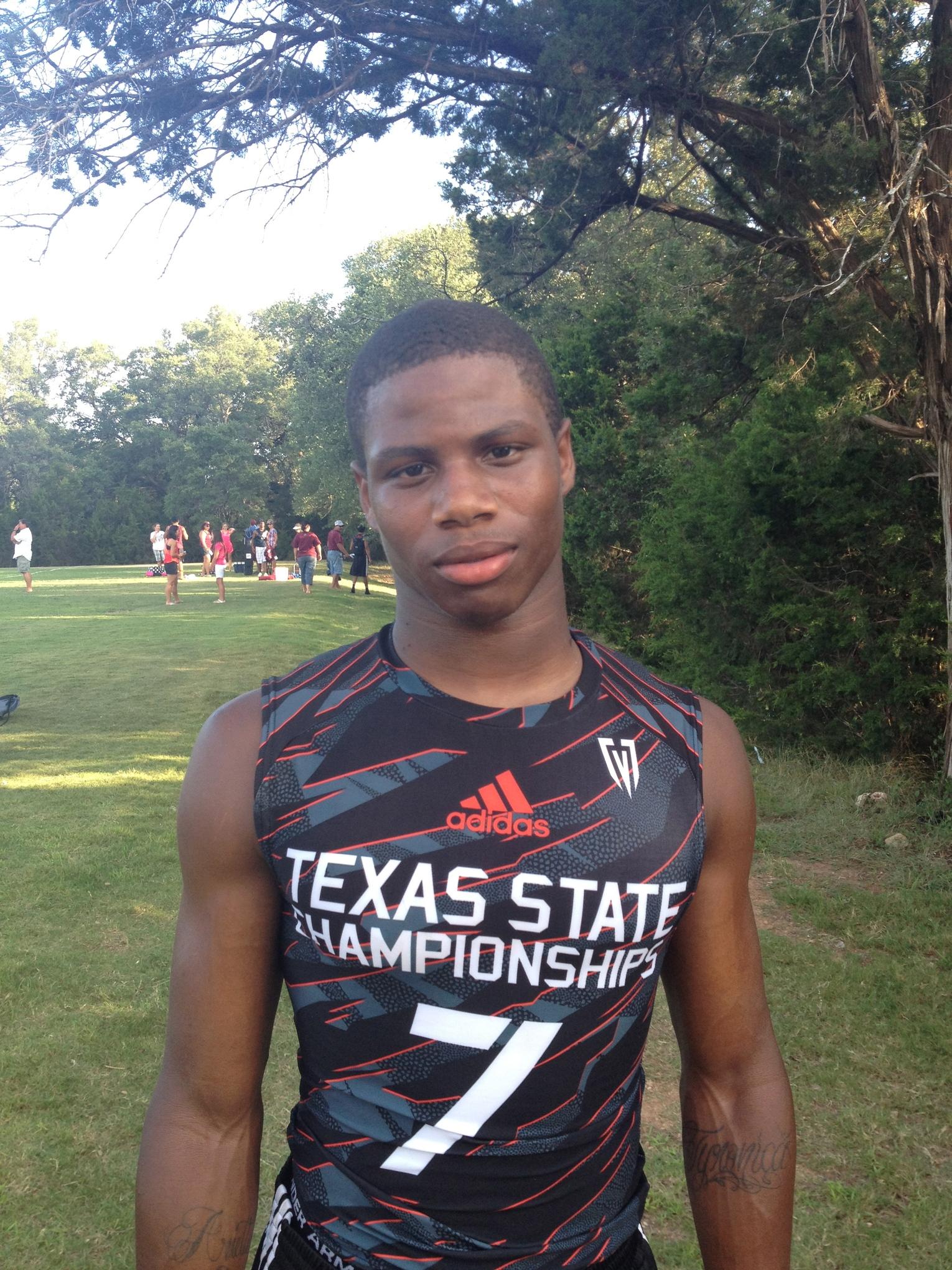 Tyreik Gray at the 2013 Texas state 7on7