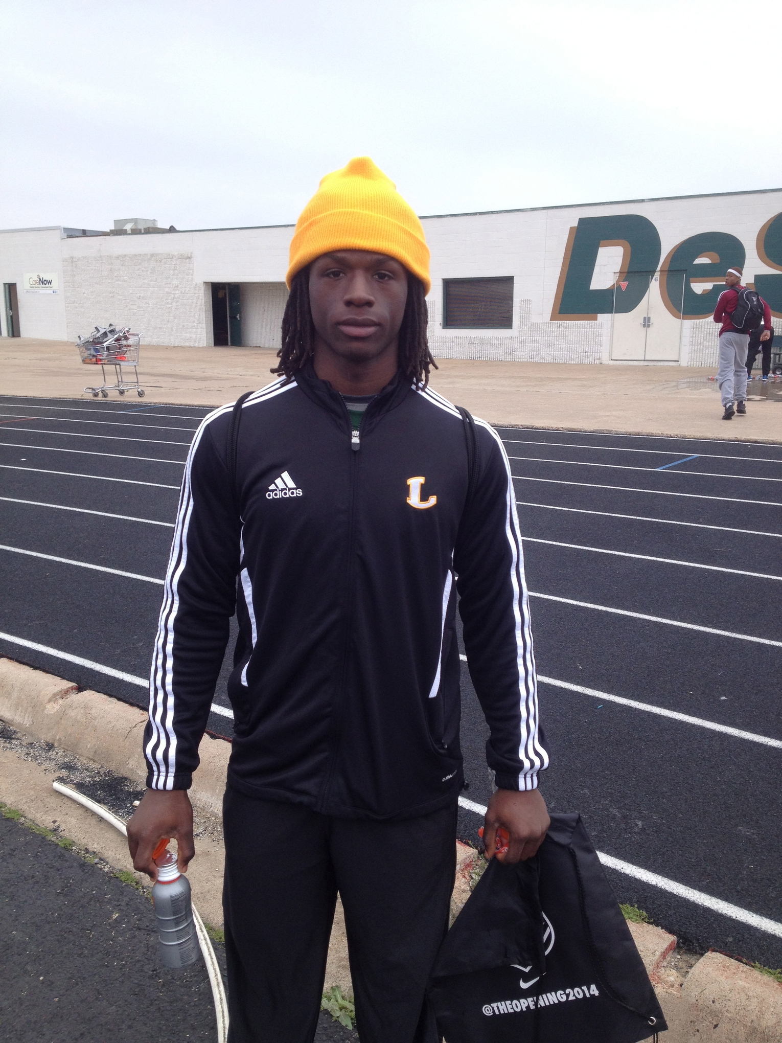 JaMycal Hasty after the Dallas NFTC