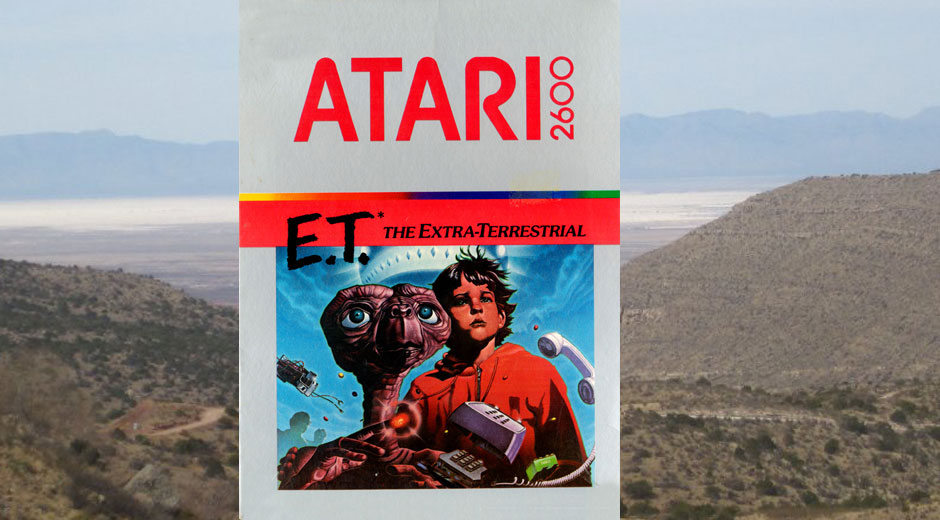 See the buried E.T. Atari 2600 cartridges get dug up in person