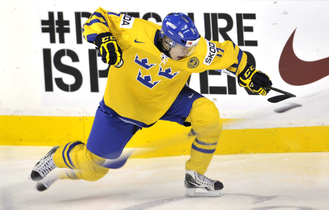 Ducks Prosptect William Karlsson, recently signed to an ATO with the Norfolk Admirals