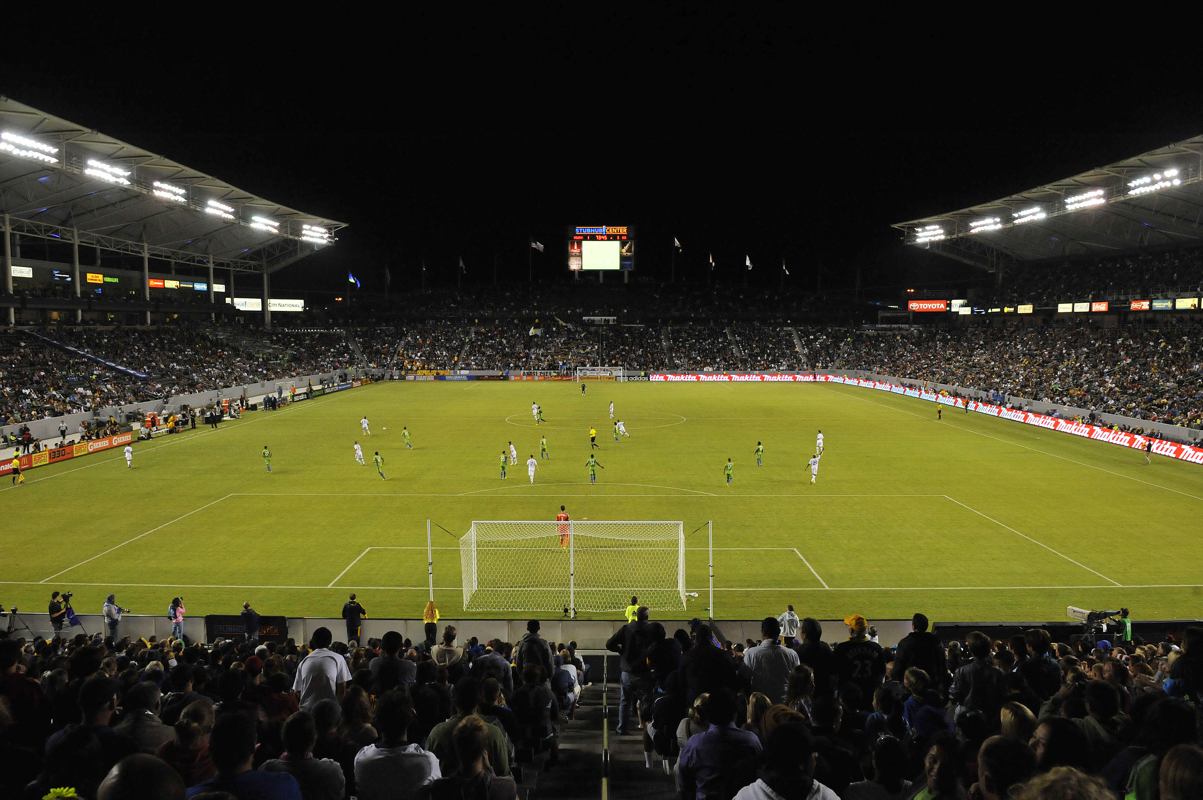 A general view of the StubHub! Center. That's where the Galaxy play.