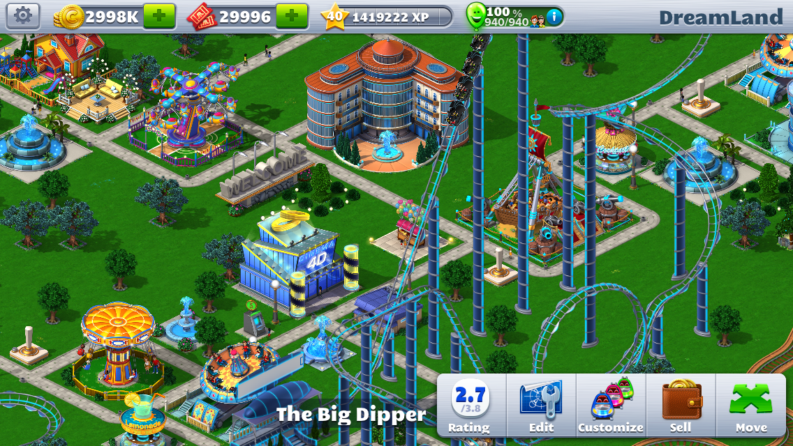RollerCoaster Tycoon 4 out now on iOS, coming to PC holiday 2014