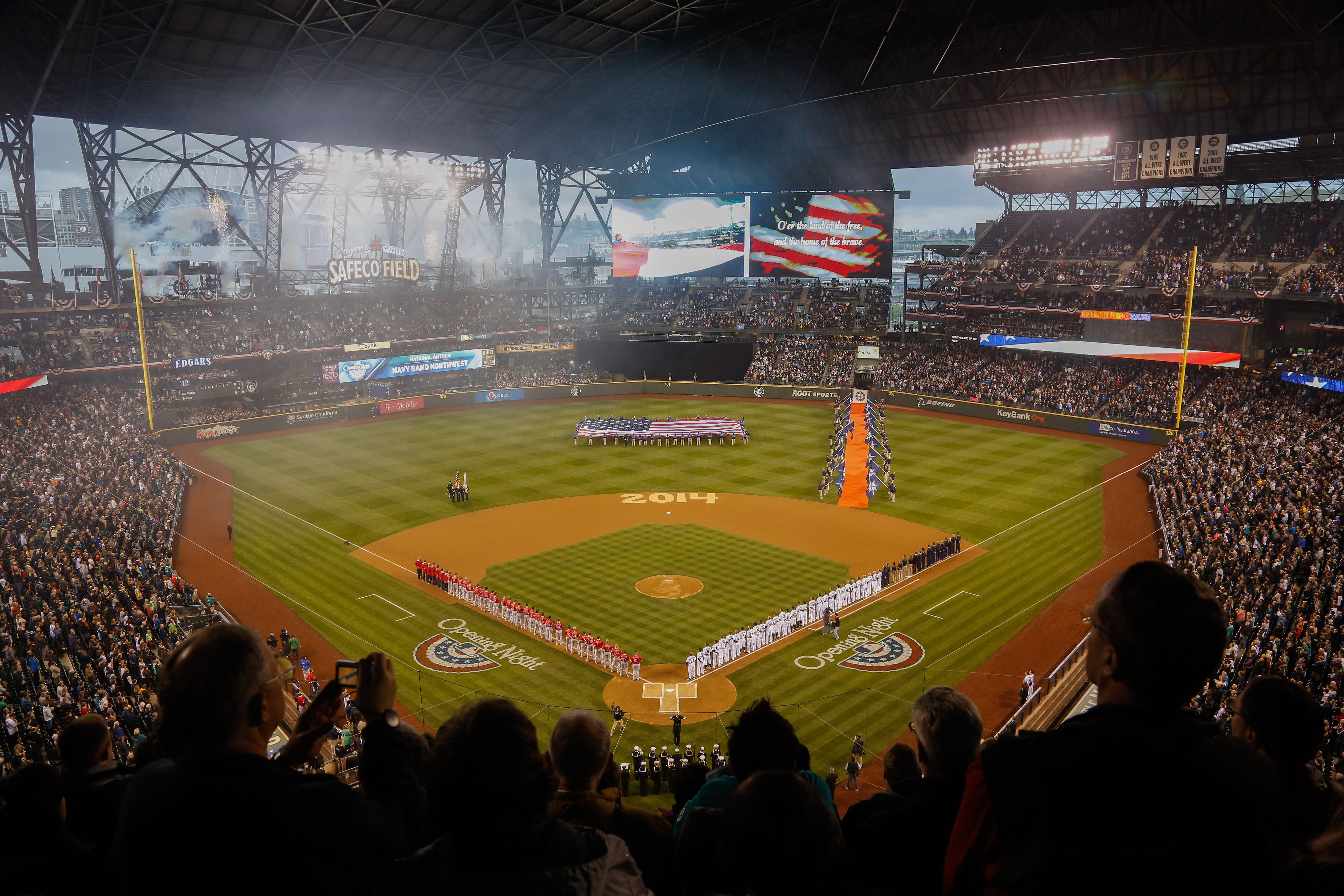 Opening Day at Safeco Field, April 8, 2014