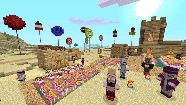 Make everything look like candy with Minecraft Xbox 360's new texture pack