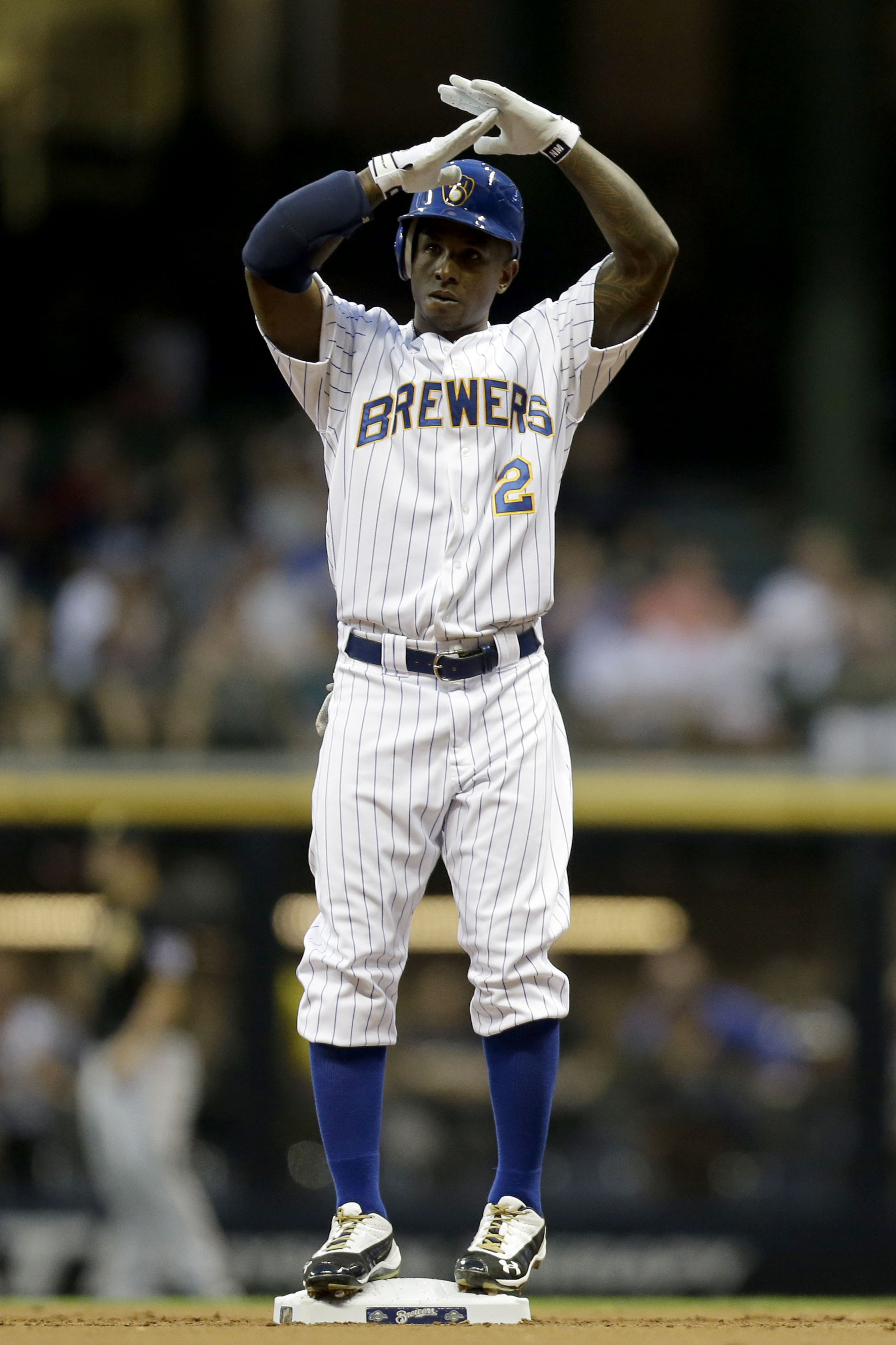Nyjer Morgan will not be throwing up the T in Milwaukee anymore.
