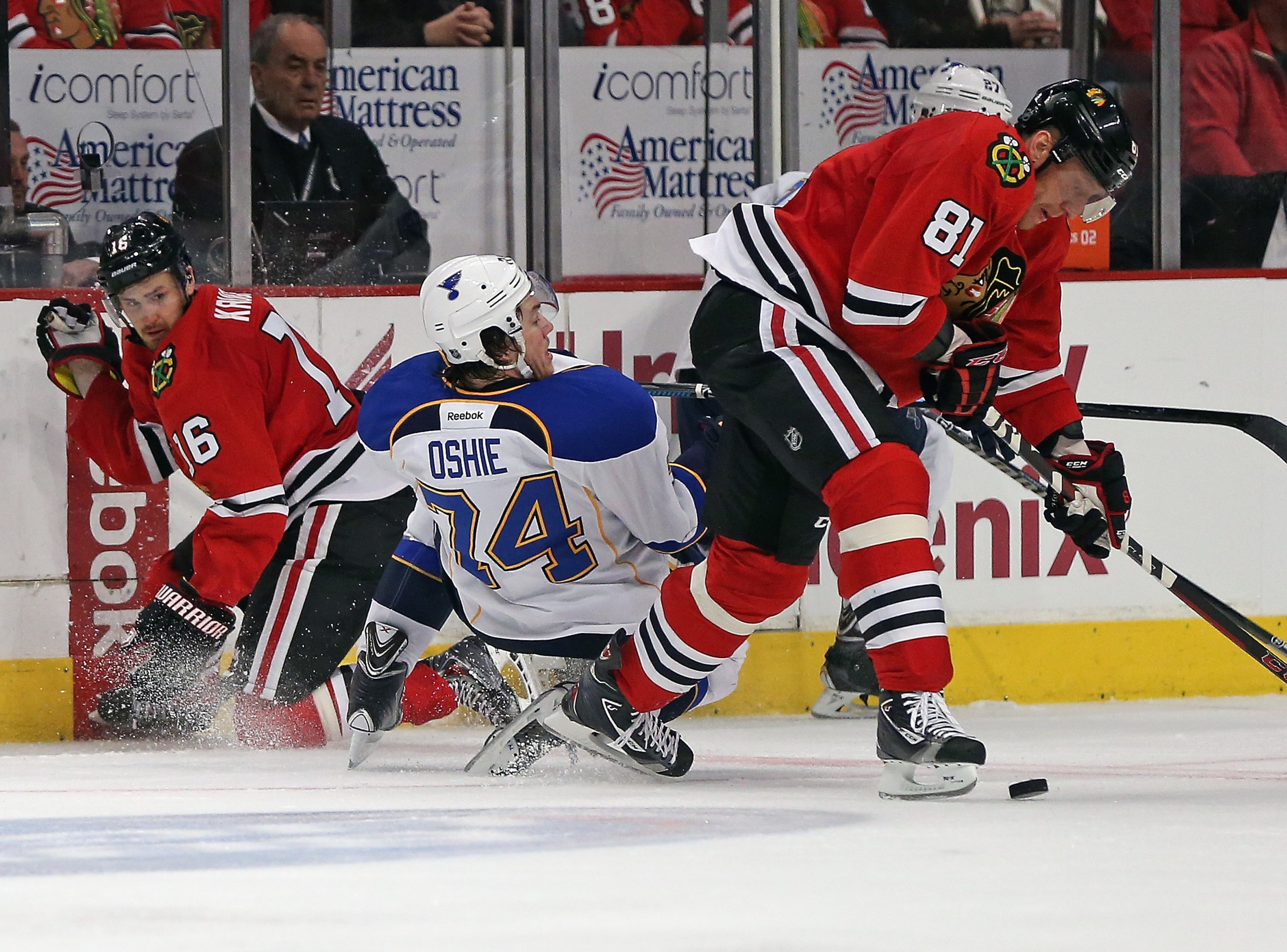 Visual Representation of the Blues/Hawks round one series.