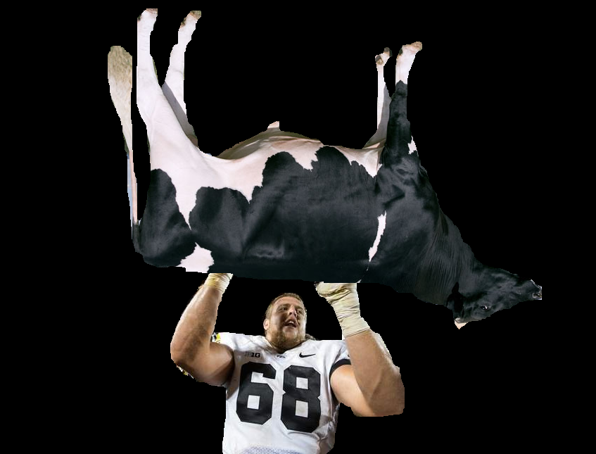 An alleged photo of Scherff, caught in the act of cattle theft.