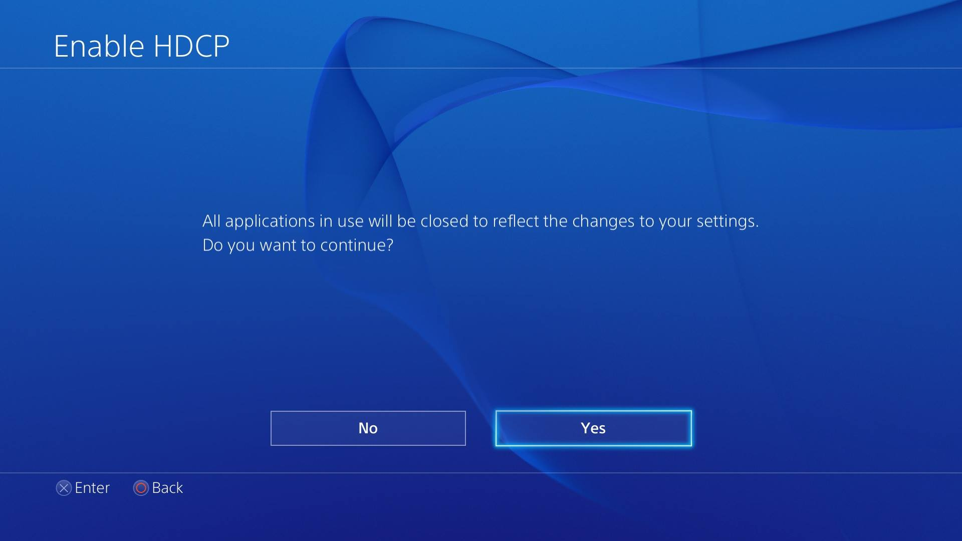 PS4 HDCP toggle must be off to record games, on to watch video apps