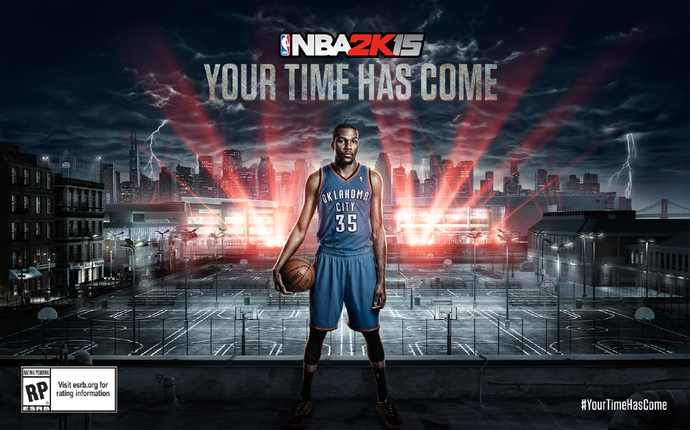 NBA 2K15's cover star is newly crowned MVP Kevin Durant