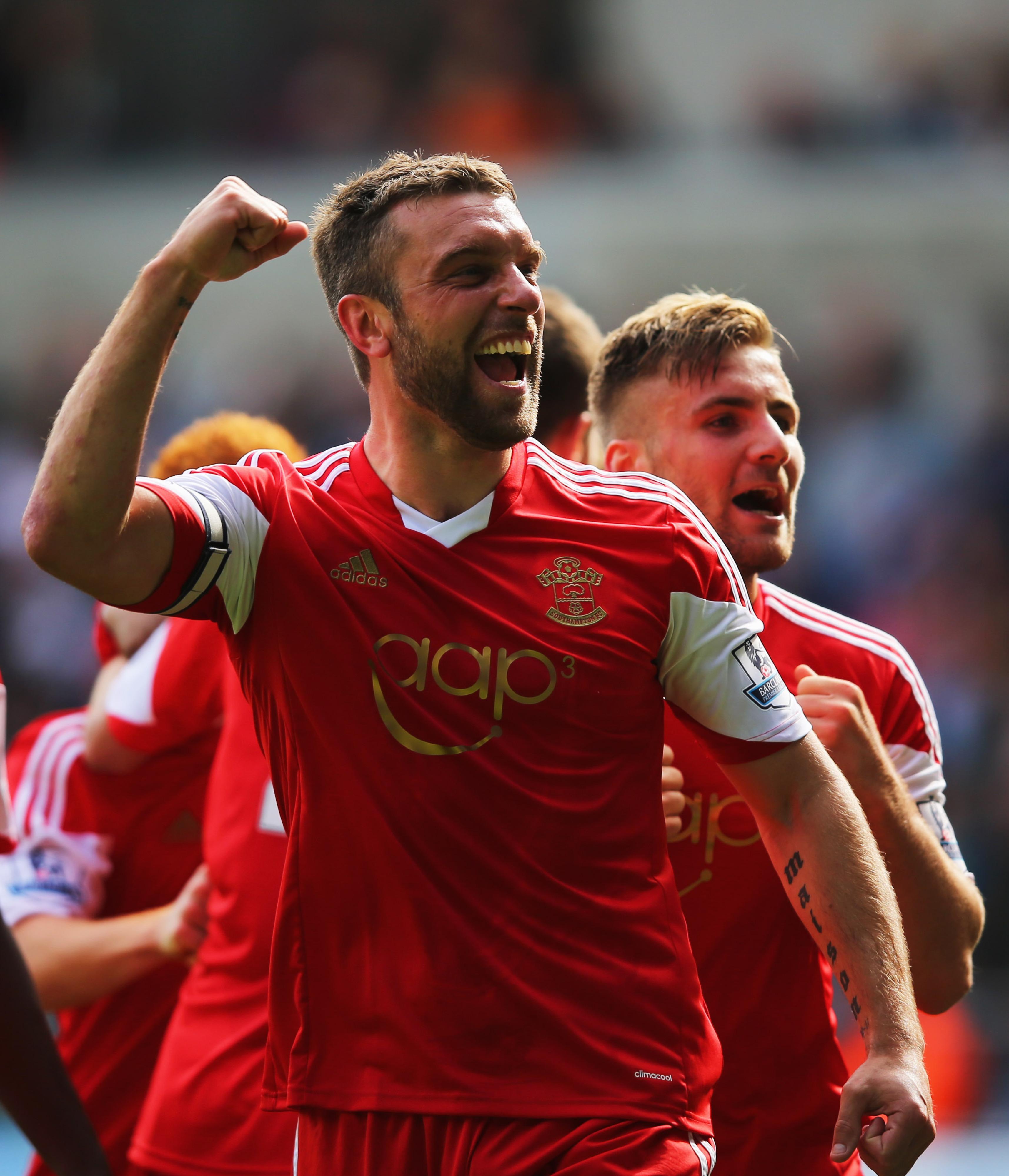Southampton's Ricky Lambert celebrates last week's winning goal