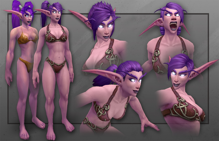 World of Warcraft's remodeled female Night Elves are 'fully capable huntresses'