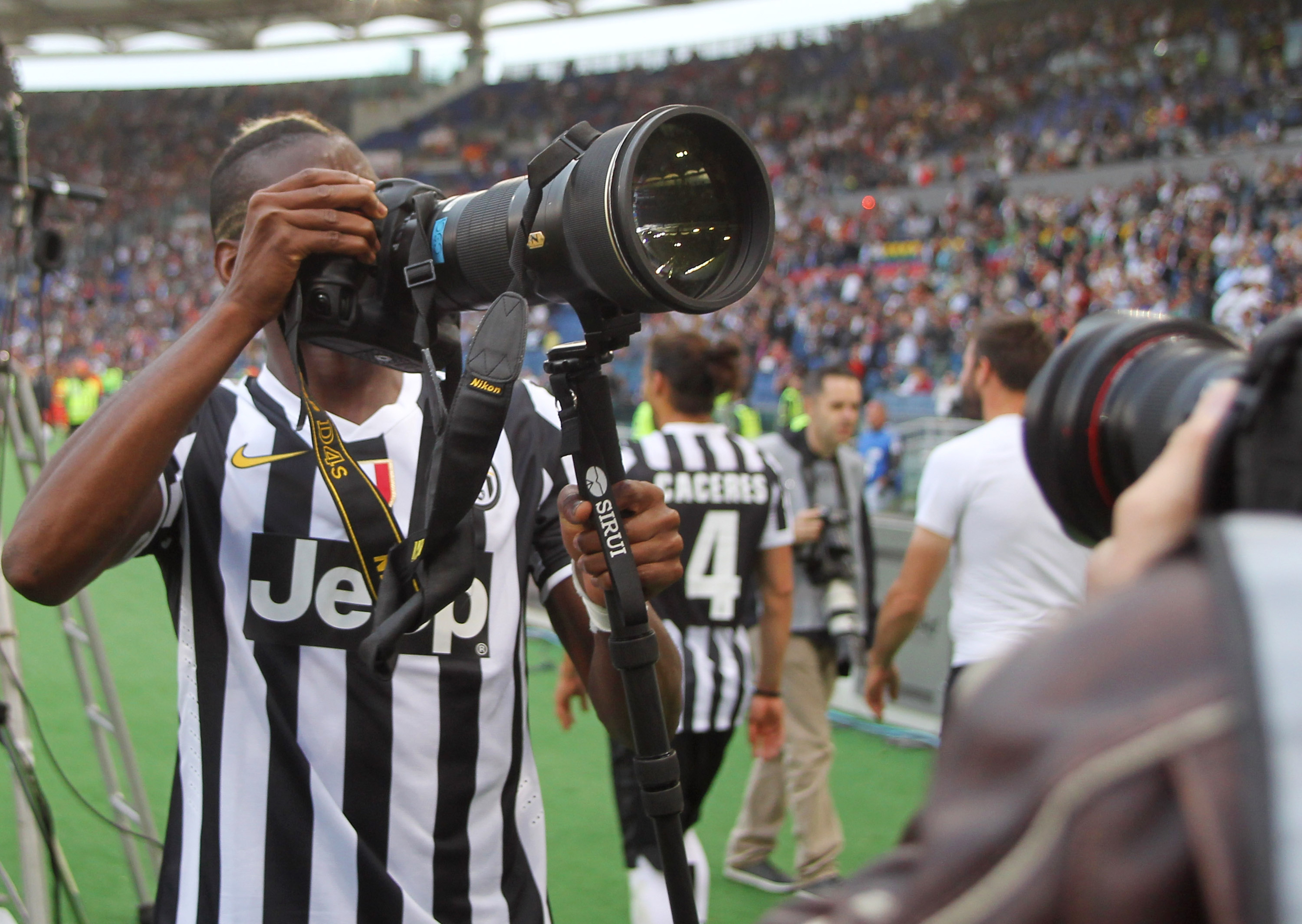 Paul Pogba, provider of fantastic pictures, keeps giving.