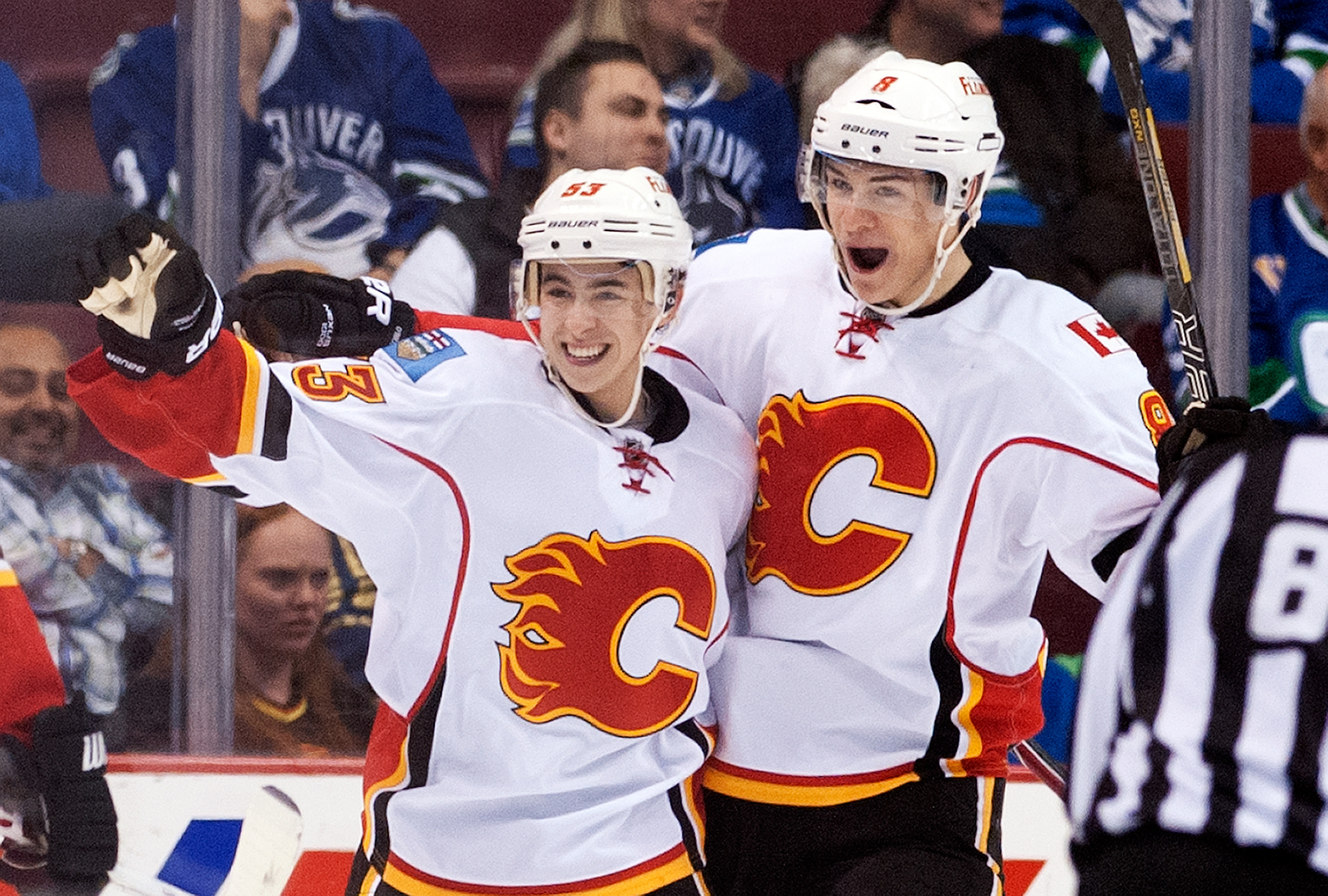 It wasn't a goal, but Johnny Gaudreau was the only Flame to score a point today.