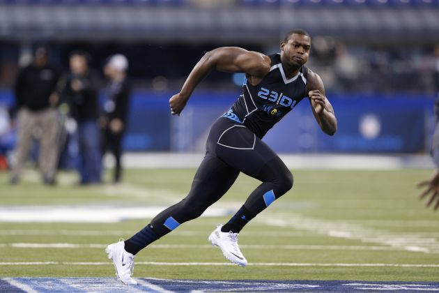 Linebacker prospect Howard Jones from Division II Shepherd opened eyes at the Combine with his overall athleticism.