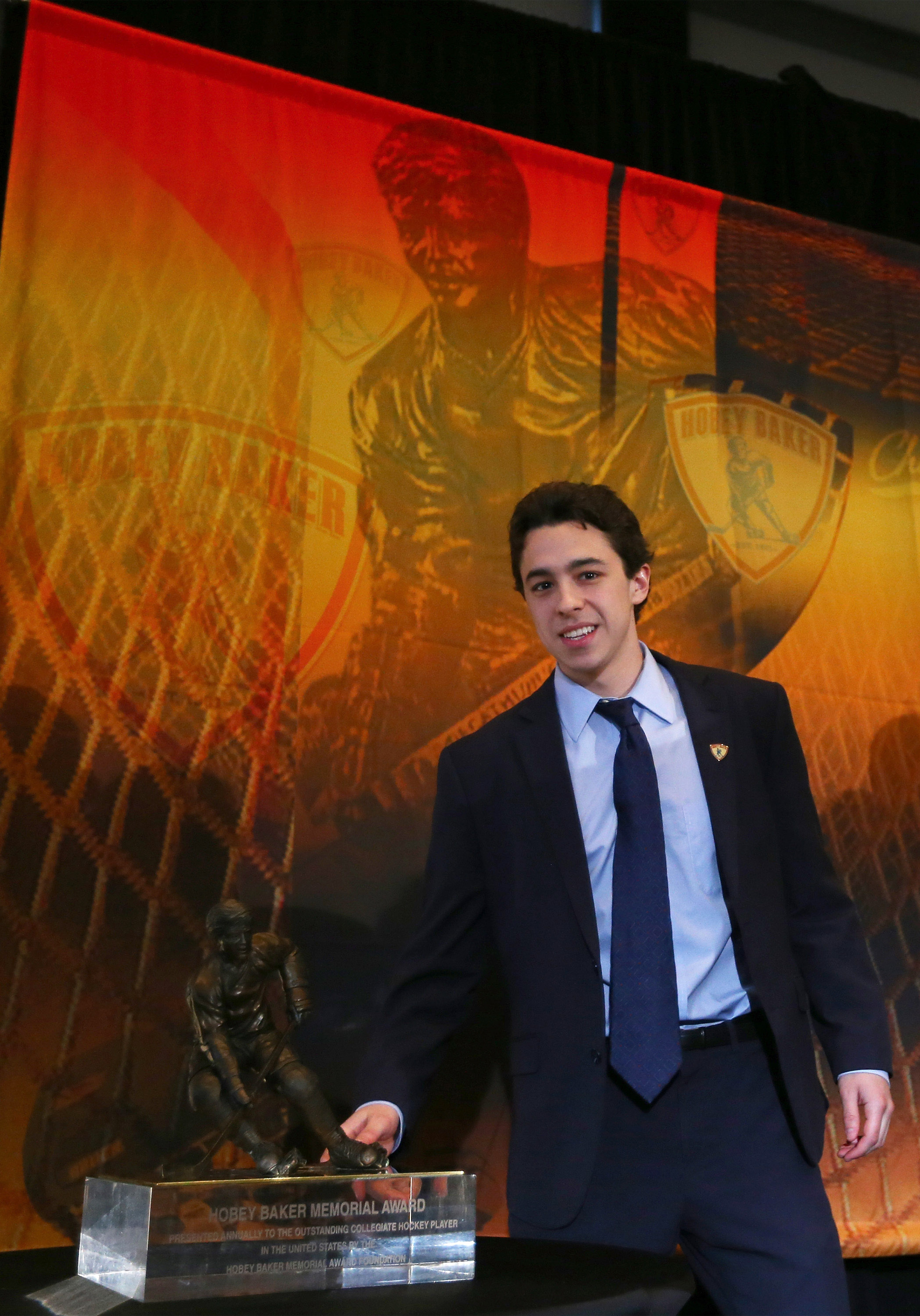 Gaudreau won the Hobey Baker and also all our hearts.