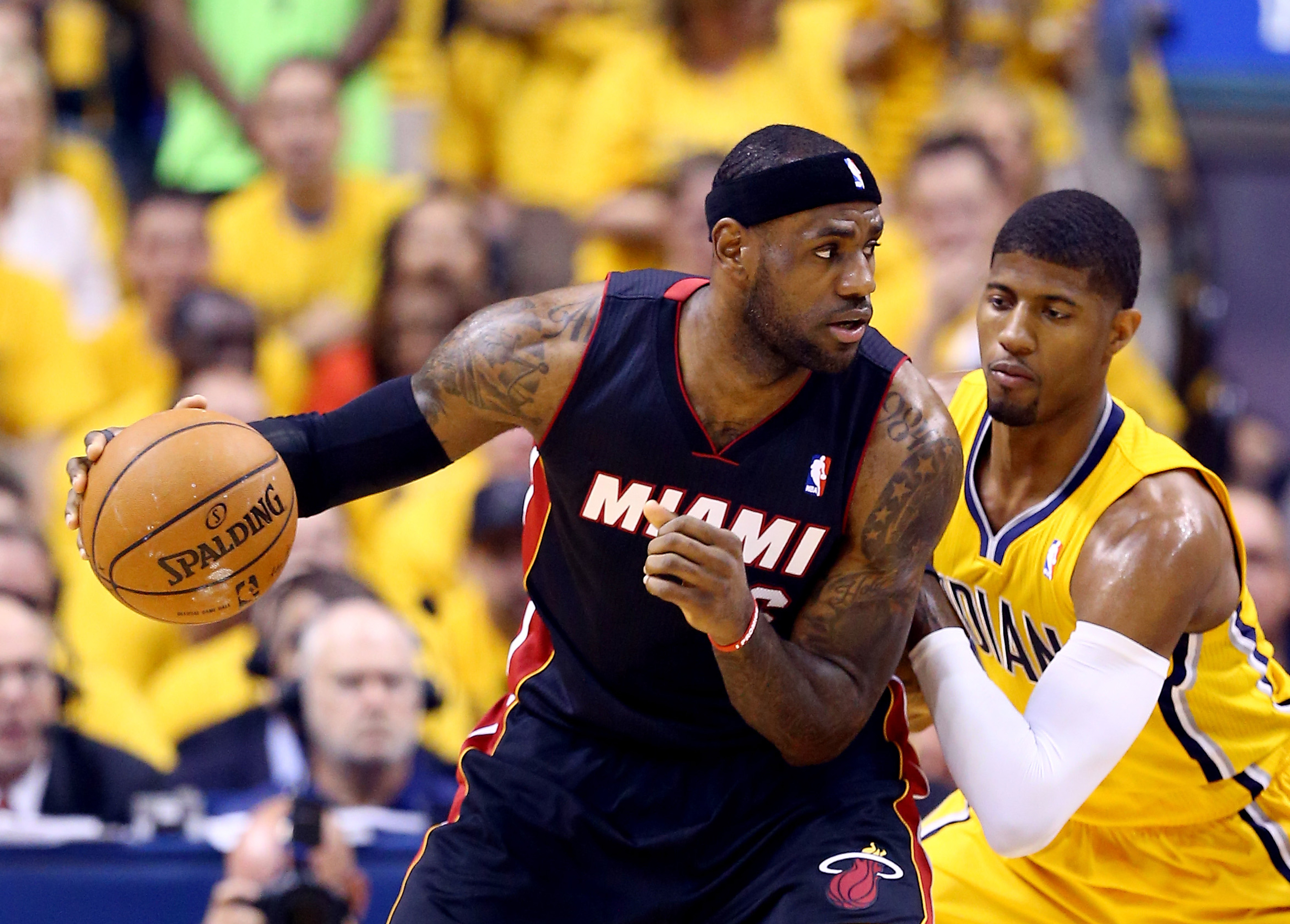 Heat vs. Pacers final score, NBA playoffs 2014: LeBron James takes over as Heat level series, 1-1