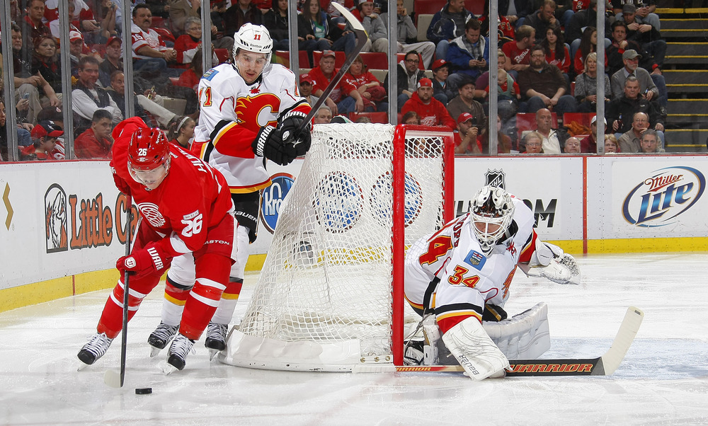 Jiri Hudler and Mikael Backlund are both in the semis, wearing different jerseys, just like here.