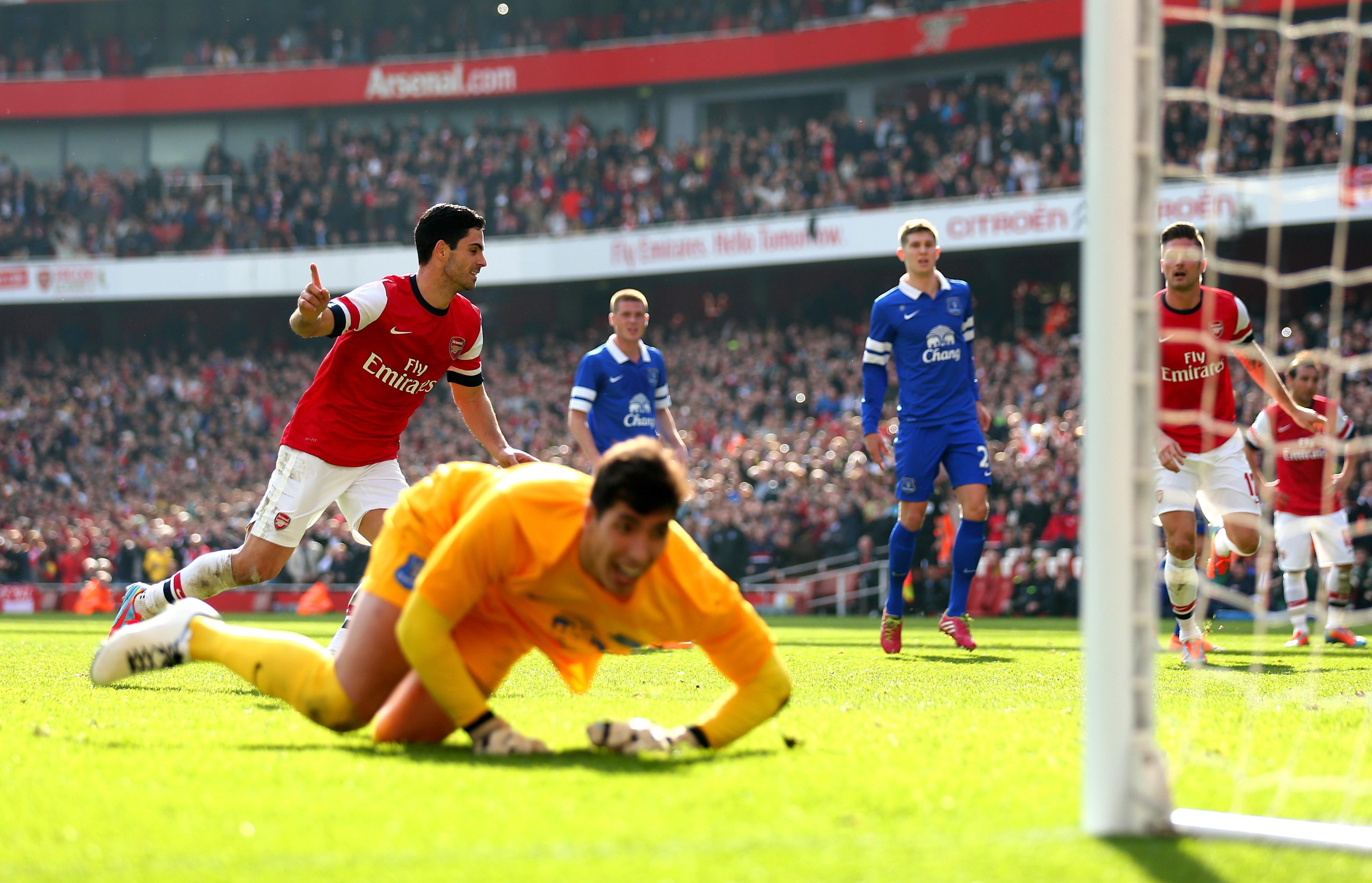 Mikel Arteta ends Everton's FA Cup dreams.