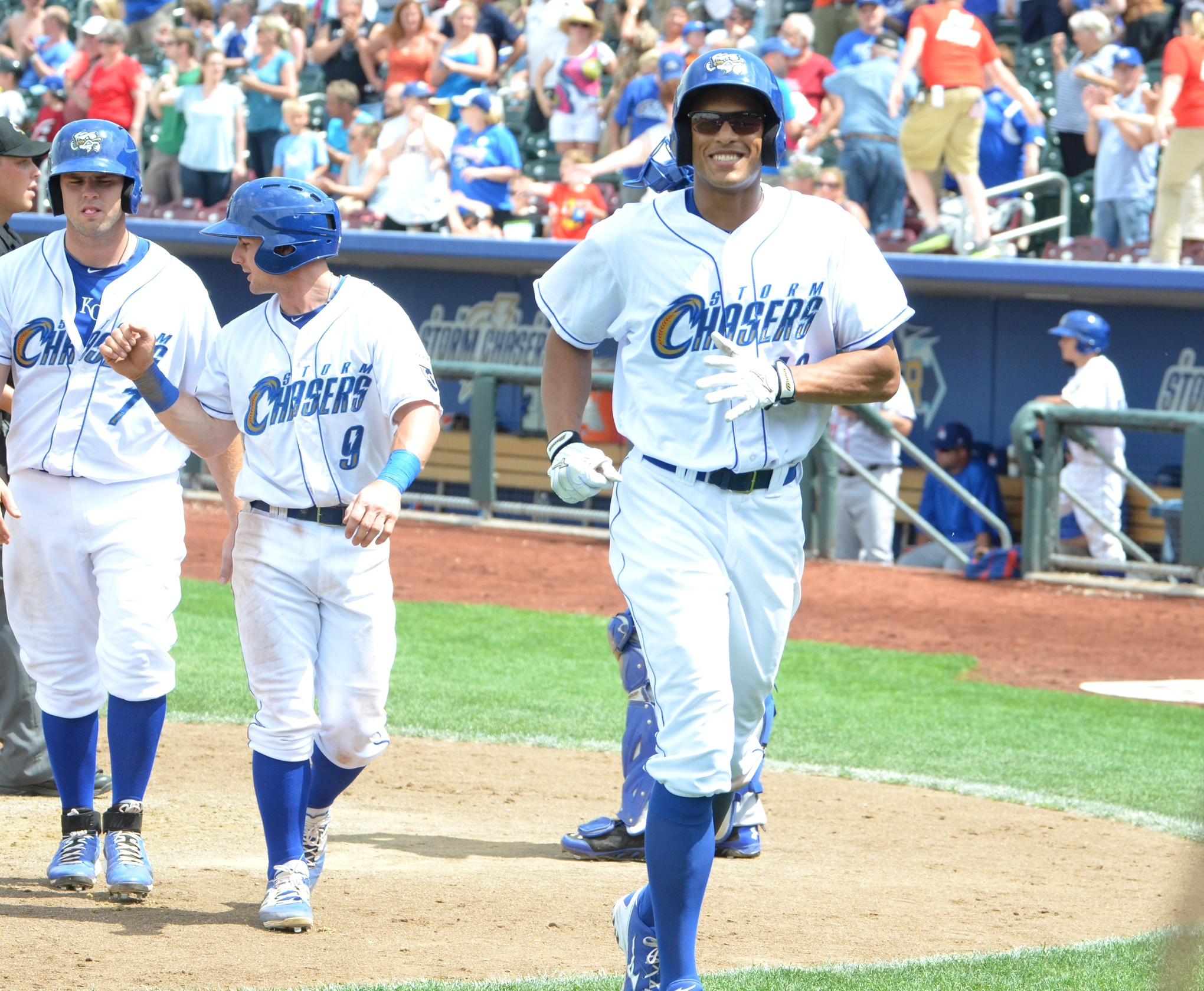 Justin Maxwell is doing just fine in Omaha. This is him after hitting a go-ahead home run on Monday