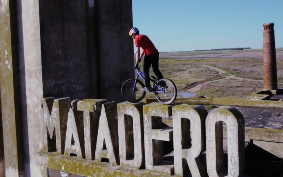 Red Bull sent a dude to do bike tricks in an abandoned city