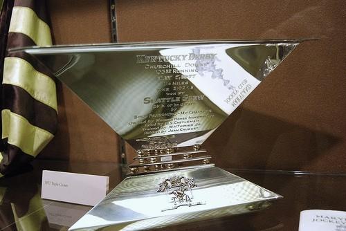 Seattle Slew's 1977 Triple Crown trophy