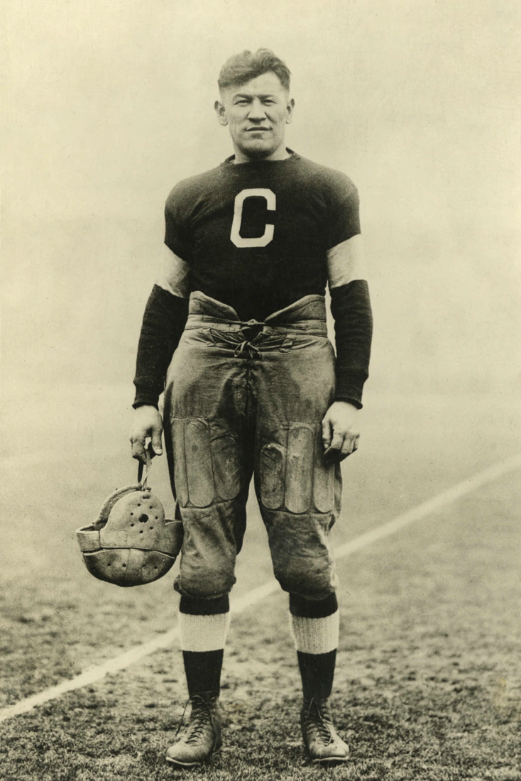 Jim Thorpe with the Canton Bulldogs of the Ohio League and later of the National Football League | Photo is from the late 1910s or early 1920s