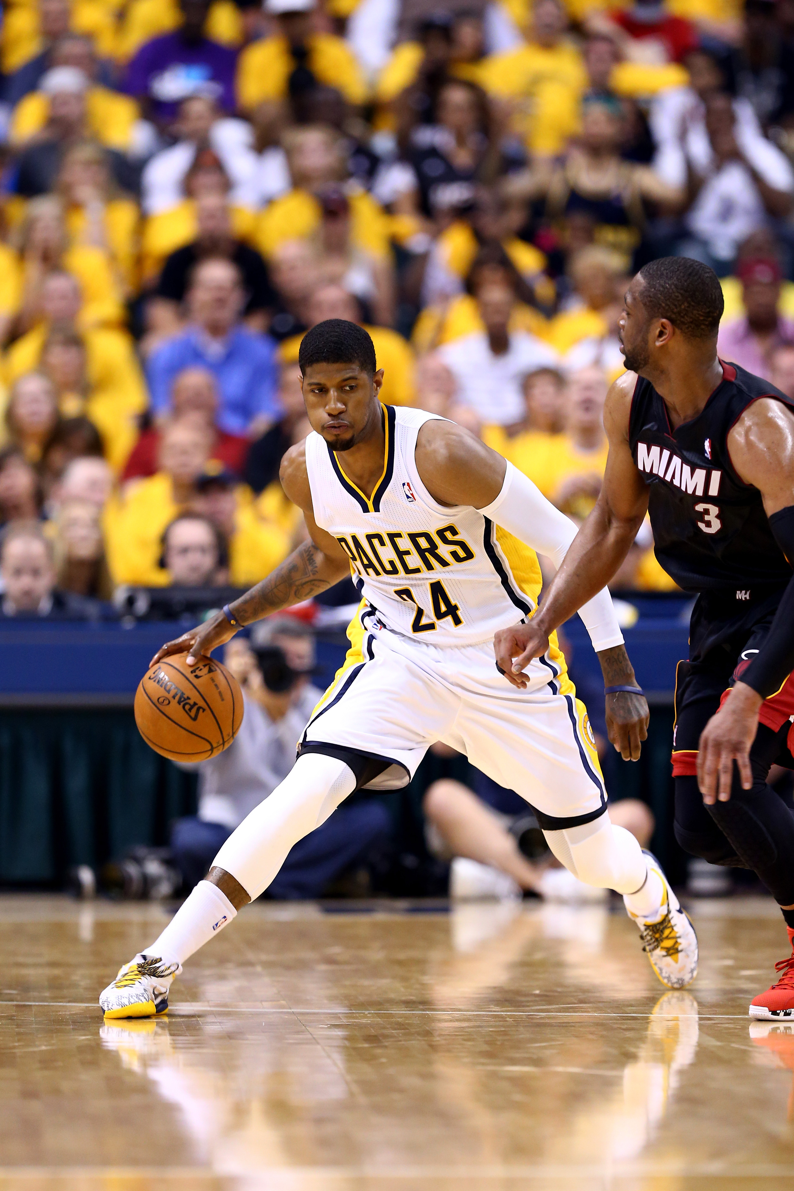 Heat vs. Pacers results, 2014 NBA playoffs: Paul George scores 21 in 4th to lead Indiana to 93-90 win