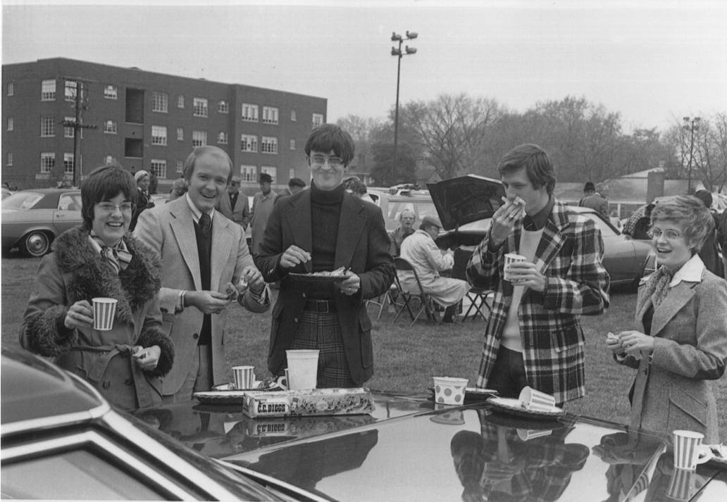 Apparently the best tailgating went on in the 1970s.
