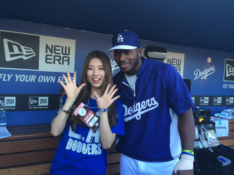 The Daily Puig: Yasiel Puig and Bae Suzy are best friends now