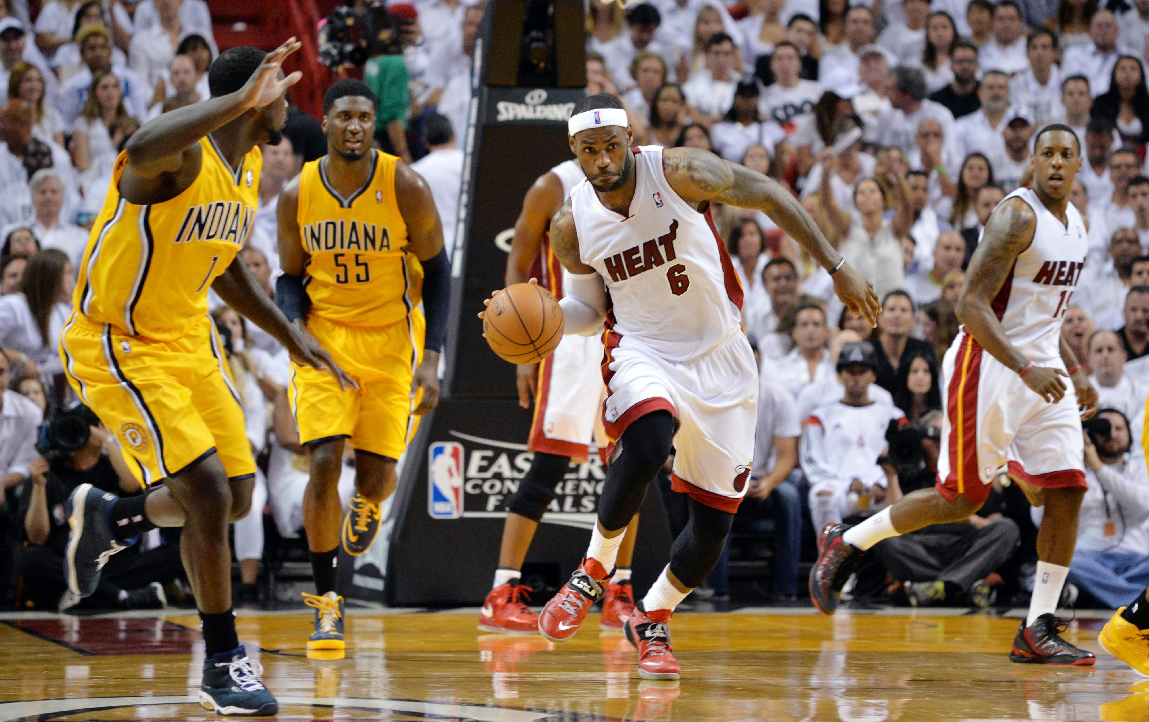 Pacers vs. Heat final score, NBA playoffs 2014: Miami heading to NBA Finals again after 117-92 victory over Indiana